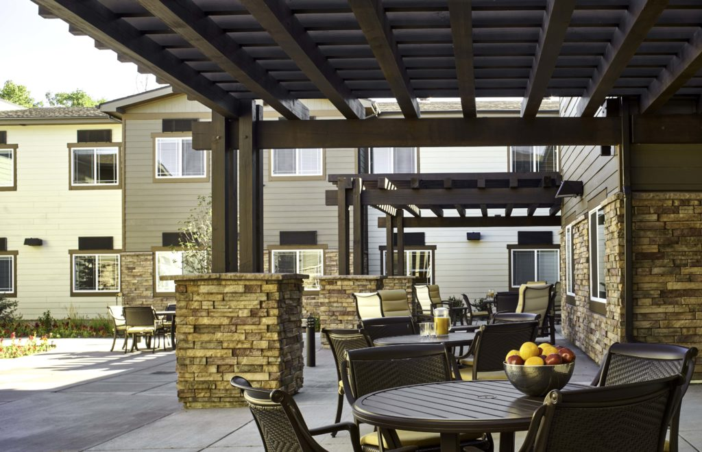 Outdoor Patio Seating at Ralston Creek