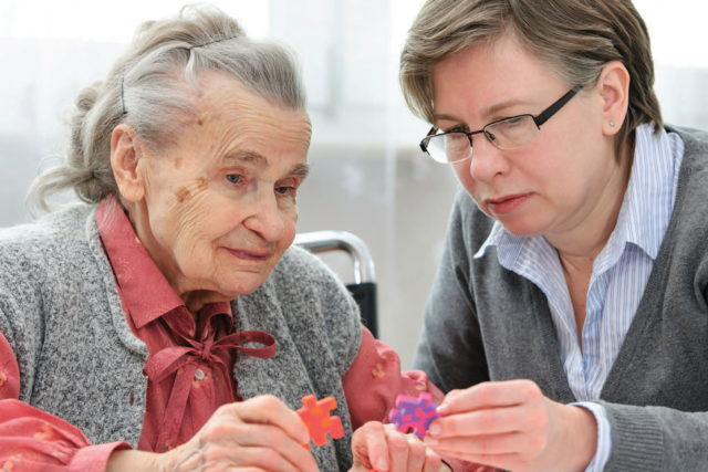 Working with Memory Care Patient